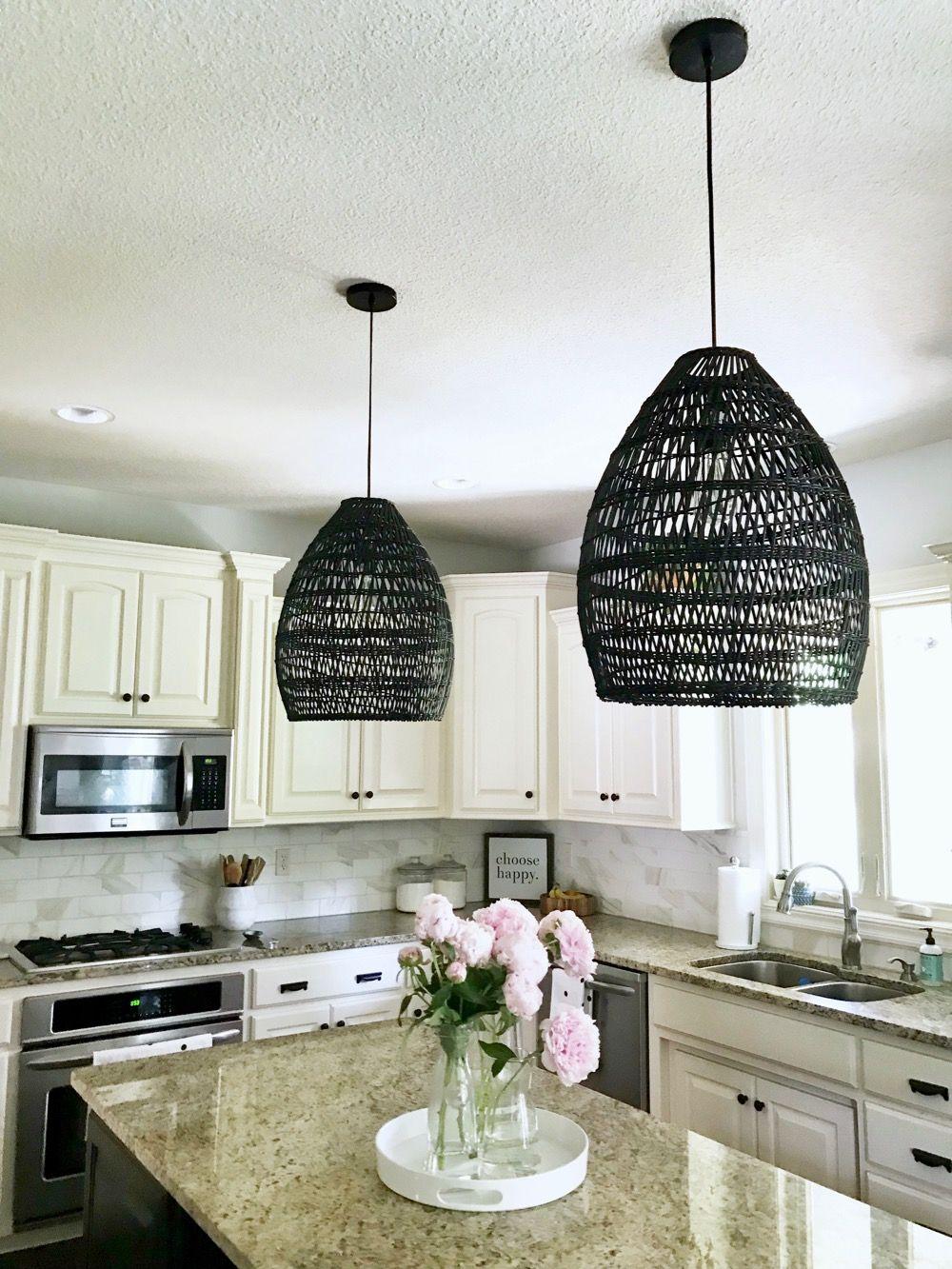 Black Woven Pendant Lights Lighting, Kitchen pendant