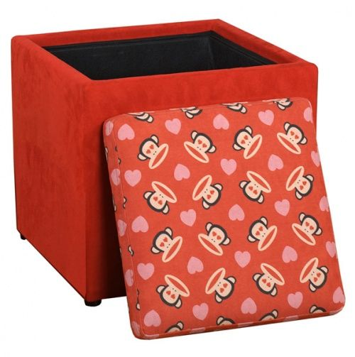 Paul Frank Love Ottoman Red - Najarian Kids Furniture | Gifts for ...