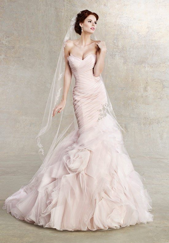 Pink Fitted Wedding Dress