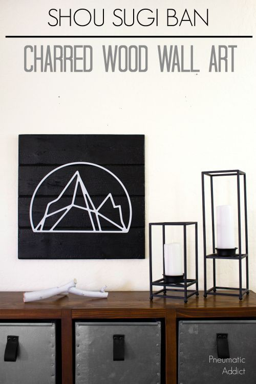 Shou Sugi Ban Charred Wood Wall Art - Video Tutorial Create rich black color and unique texture on by learning shou sugi ban to create a charred wood wall art