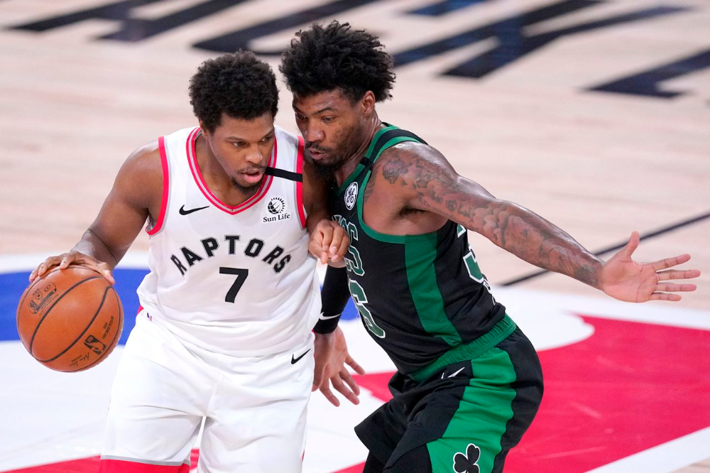 Marcus Smart S Clutch Block Powers Celtics Past Champion Raptors And Other Observations The Boston Globe Marcus Smart One Team Champion