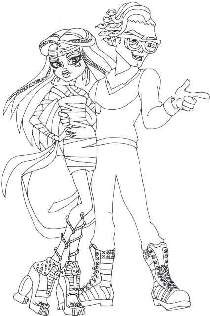 CLICK HERE TO PRINT Free Printable Monster High Coloring Sheet For