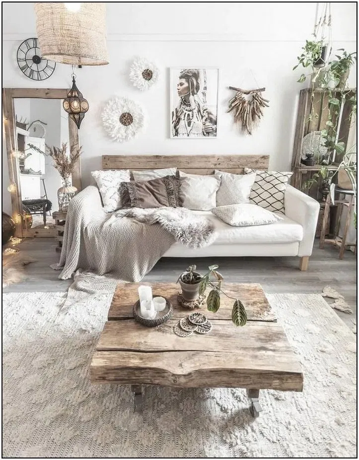 122 Best Living Room Apartment Decorating Ideas To Try 21 In 2020 Boho Living Room Interior Design Living Room Wall Decor Living Room