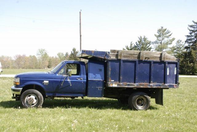 1997 Ford F 350 Super Duty 4wd Diesel Dump Truck 78k Actual Miles Trucks For Sale Trucks Dump Truck