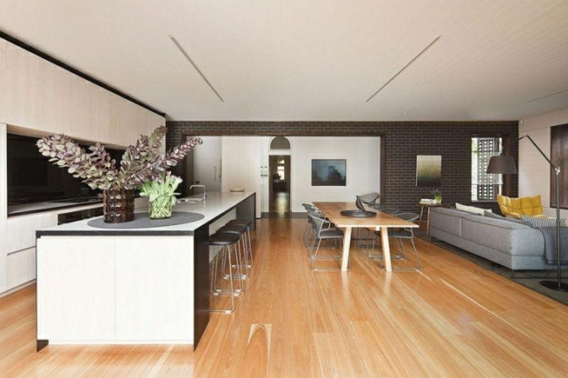 Wohnküche modern und praktisch gestalten u2013 40 tolle Einrichtungsideen - wohnzimmer offen gestaltet