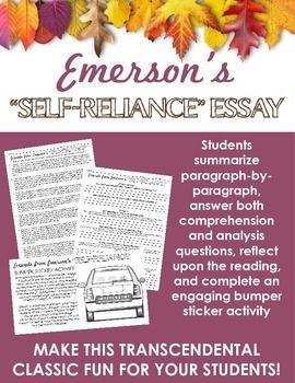 Emerson\'s Self-Reliance Activities -- Transcendentalism