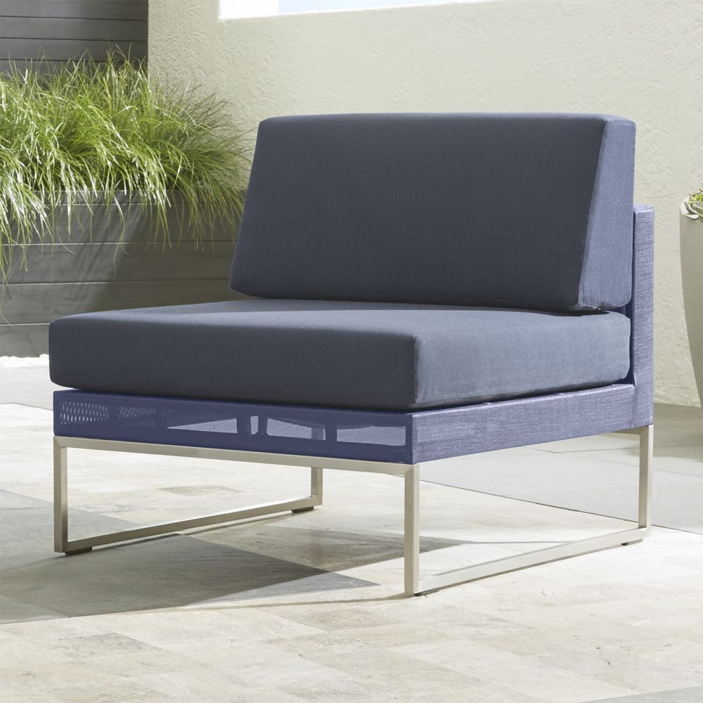 Dune Armless Chair With Sunbrella ® Cushions   Crate And Barrel