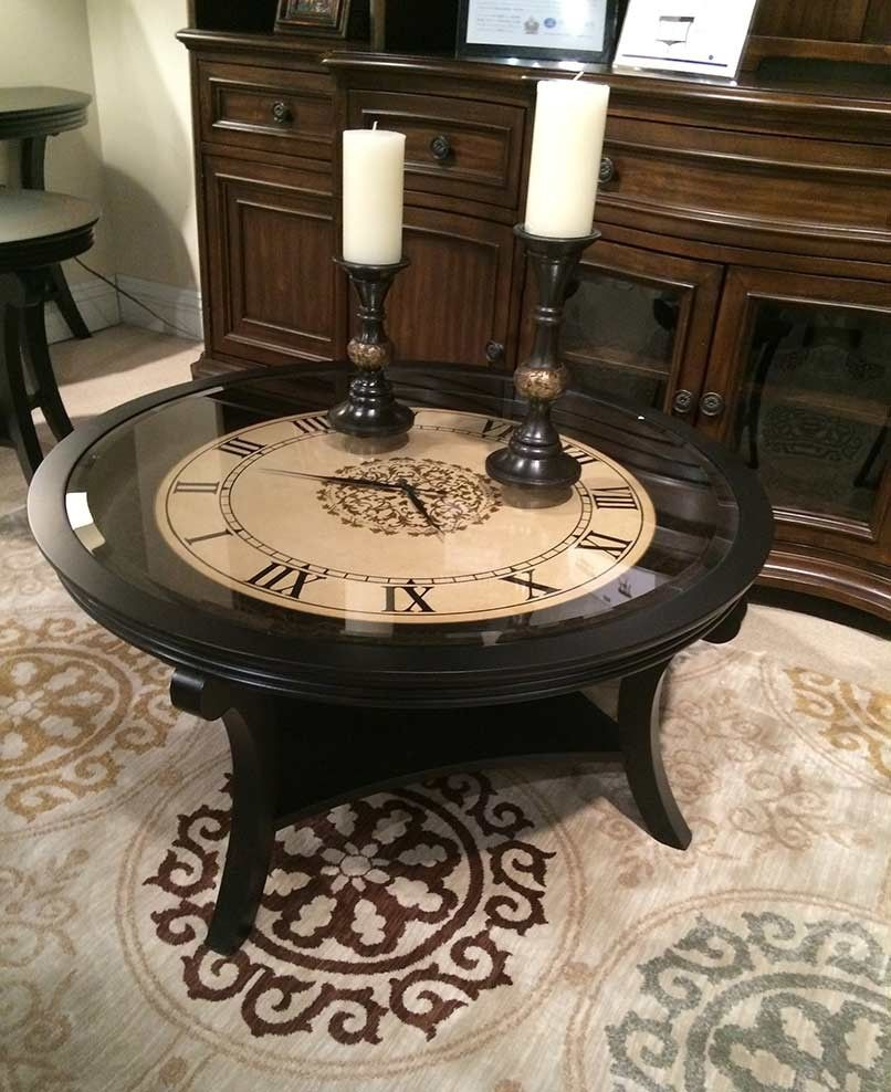 - Clock Coffee Table Round Round Coffee Table, Coffee Table, Home