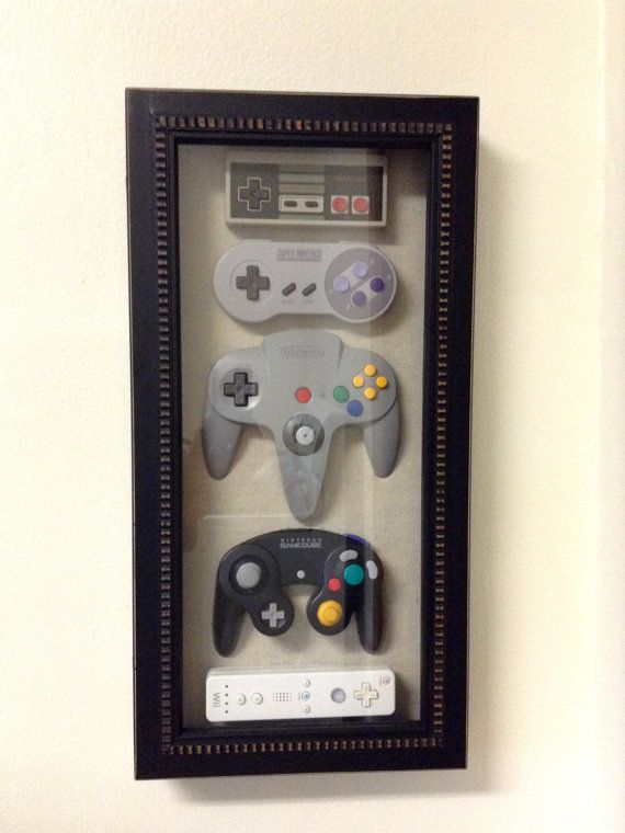Nintendo History Decor Shadow Box Framed by Woody6Switch on Etsy ...