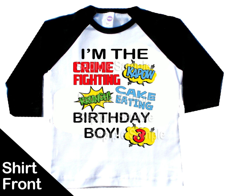 Superhero Fifth Birthday 5 Years Old Gift Idea Kids T-Shirt Comix Style FIVE