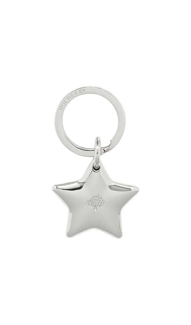 Mulberry Star Keyring - Silver Metal.  Because I'm obsessed with stars ⭐️