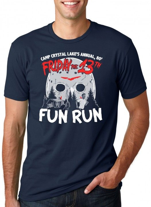 You will get in some cardio when you participate in the fun run at Camp Crystal Lake. Run from Jason the maniac and if you survive, you win! You will die to go to Camp Crystal Lake! Have a great time with Jason Voohees in this super soft tee ! #halloween #fridaythe13th #funnytshirts