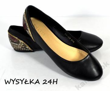 Klk K1448 Balerinki Czarne Wezowa Skora 5848783615 Oficjalne Archiwum Allegro Shoes Flats Fashion