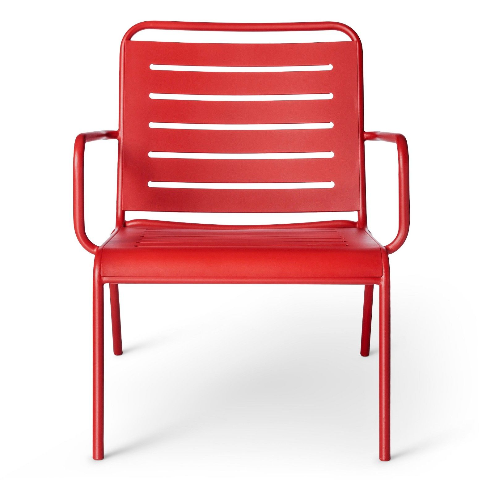 Outfit your deck or patio with the Metal Deep Seat Chair in Red from