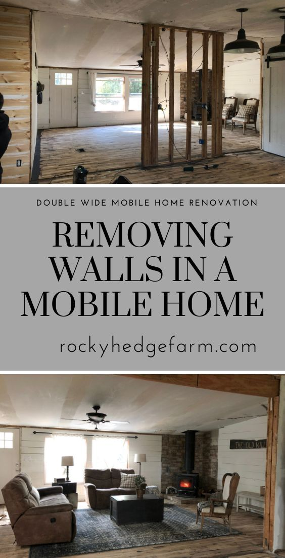 Removing the Marriage Wall in our Mobile Home | Rocky Hedge Farm