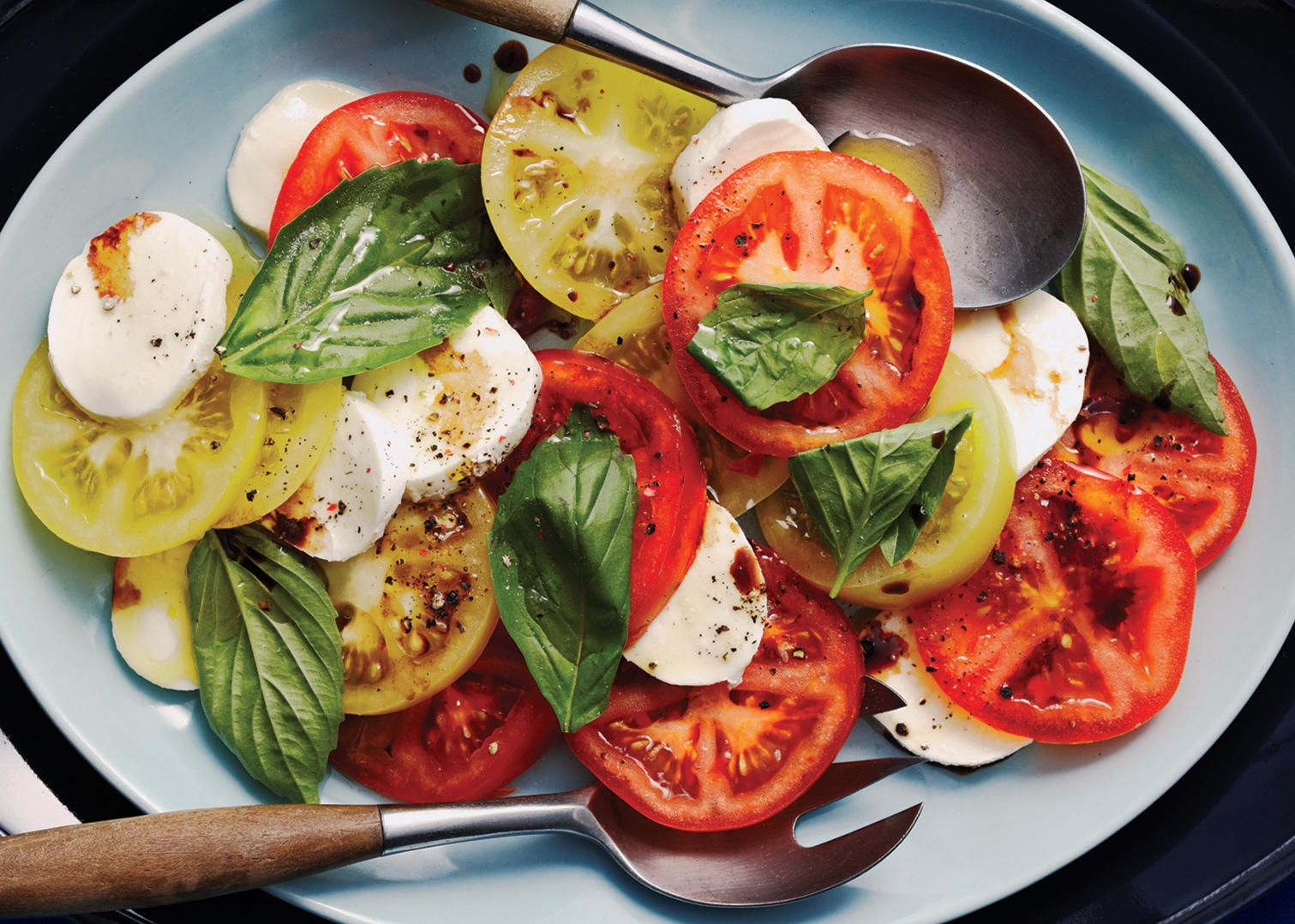 Tomato Bocconcini Salad With Balsamic Glaze Sobeys Inc Recipe Bocconcini Salad Healthy Side Dishes Healthy Eating Recipes