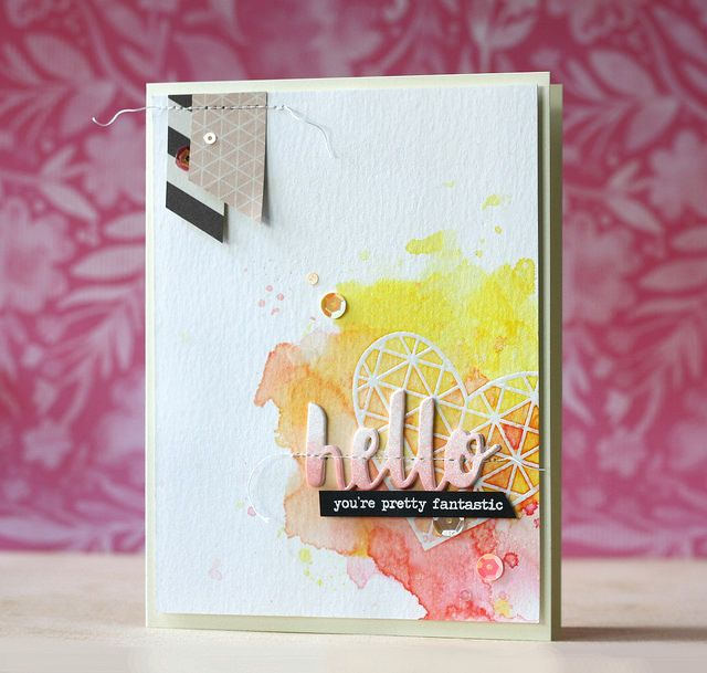 Gorgeous card created by Laura Bassen using the October 2015 card kit by Simon Says Stamp.