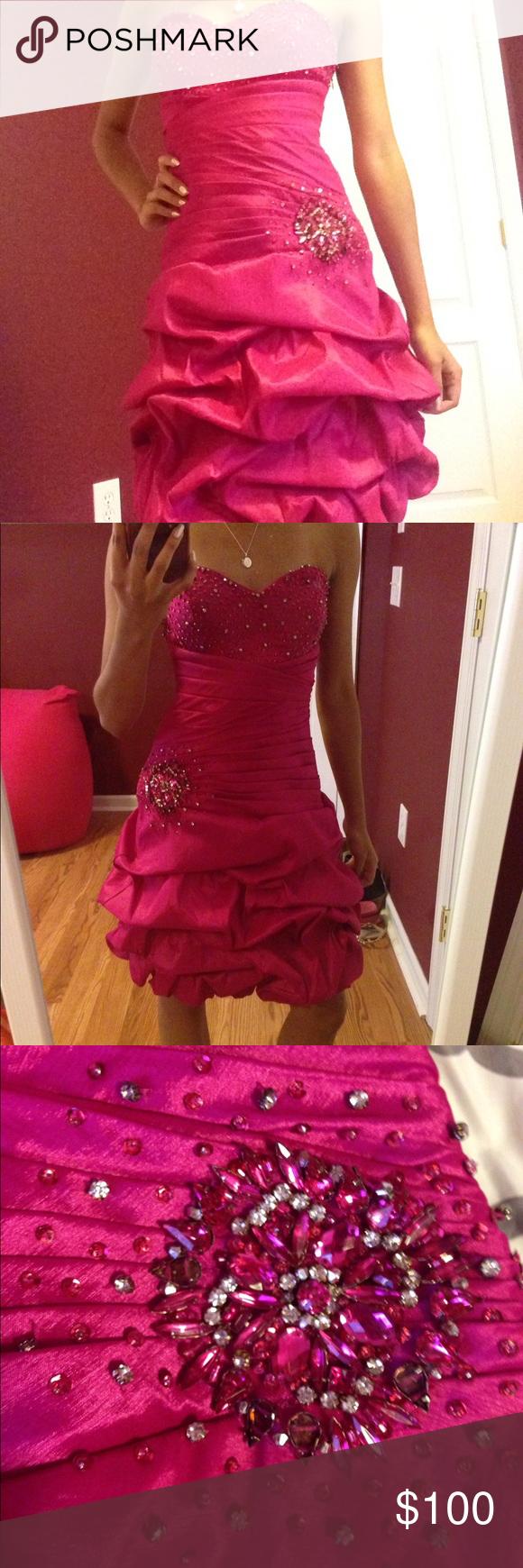 Pink mermaid style prom dress