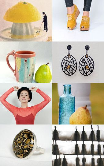 FRESH by Nuria on Etsy--  I LOVE that ceramic cofee mug in the #3 position!  Check out the potter on Etsy!  And while your there take a peek at my blue bottle/yellow pear still life!  https://www.etsy.com/treasury/Mzg1MjY2MjN8MjcyNjU3MjI5OA/fresh