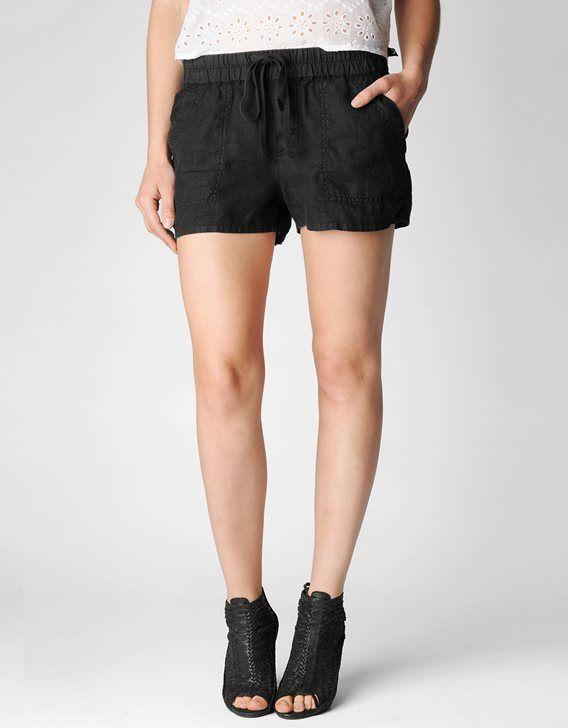 b01cb8479175 True Religion Cargo Womens Linen Short