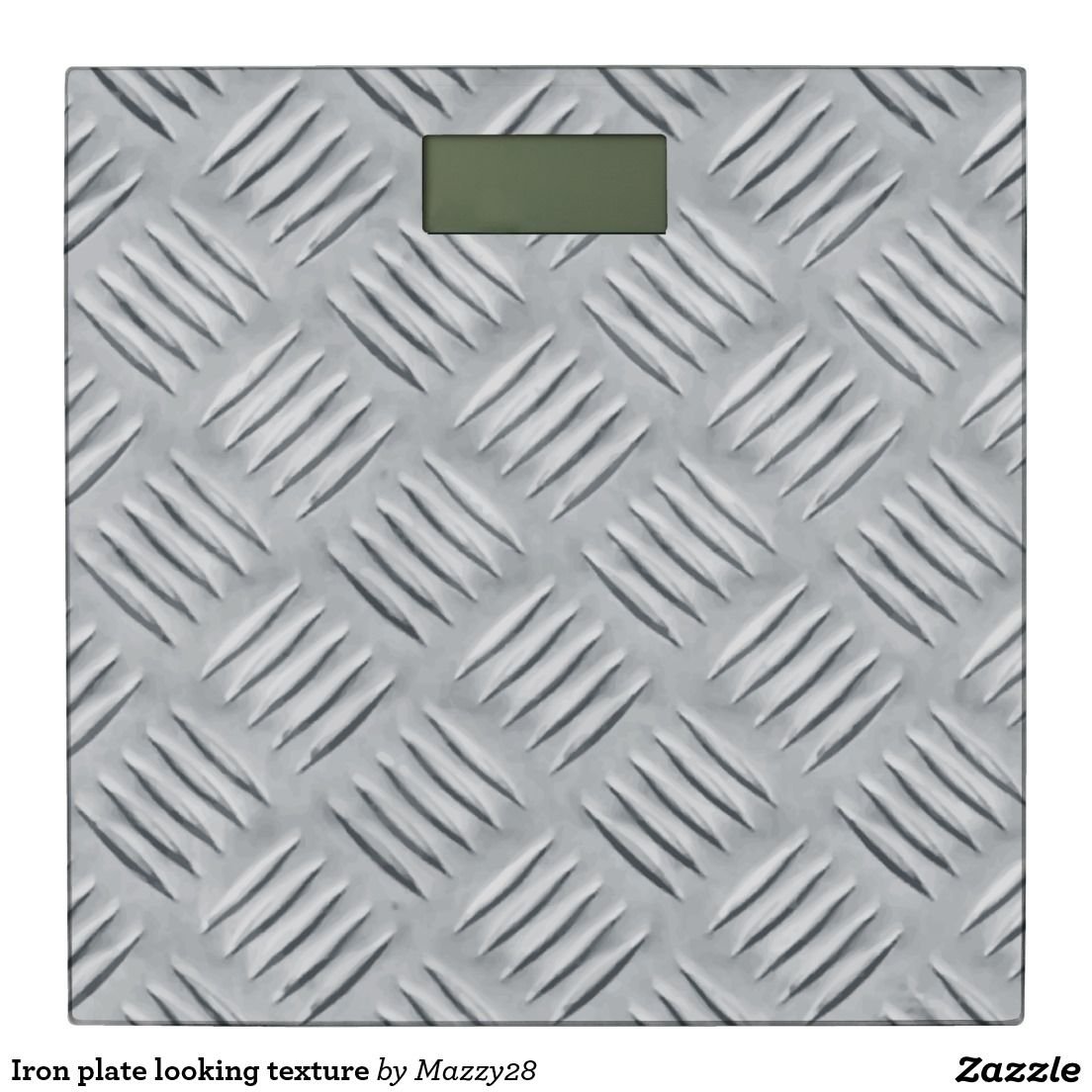 Iron plate looking texture bathroom scale