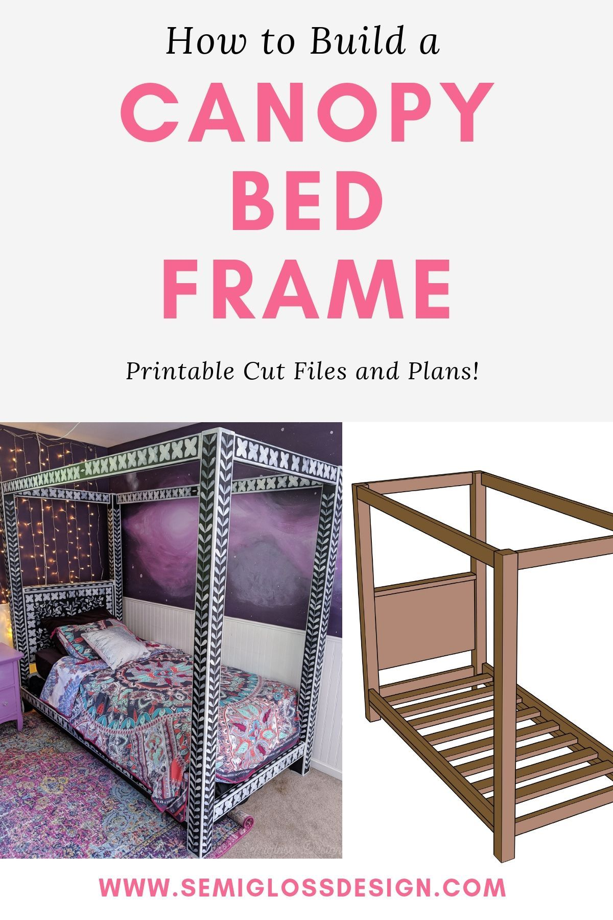 How To Build A Diy Canopy Bed Frame Canopy Bed Frame Diy Twin