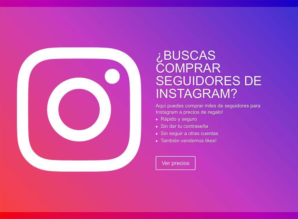 Comprar seguidores para Instagram 1.000 seguidores por 8