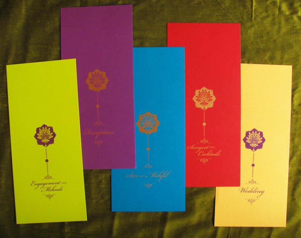 indian wedding invitation mumbai%0A Colorful inserts invitation by DN  Design  Mumbai