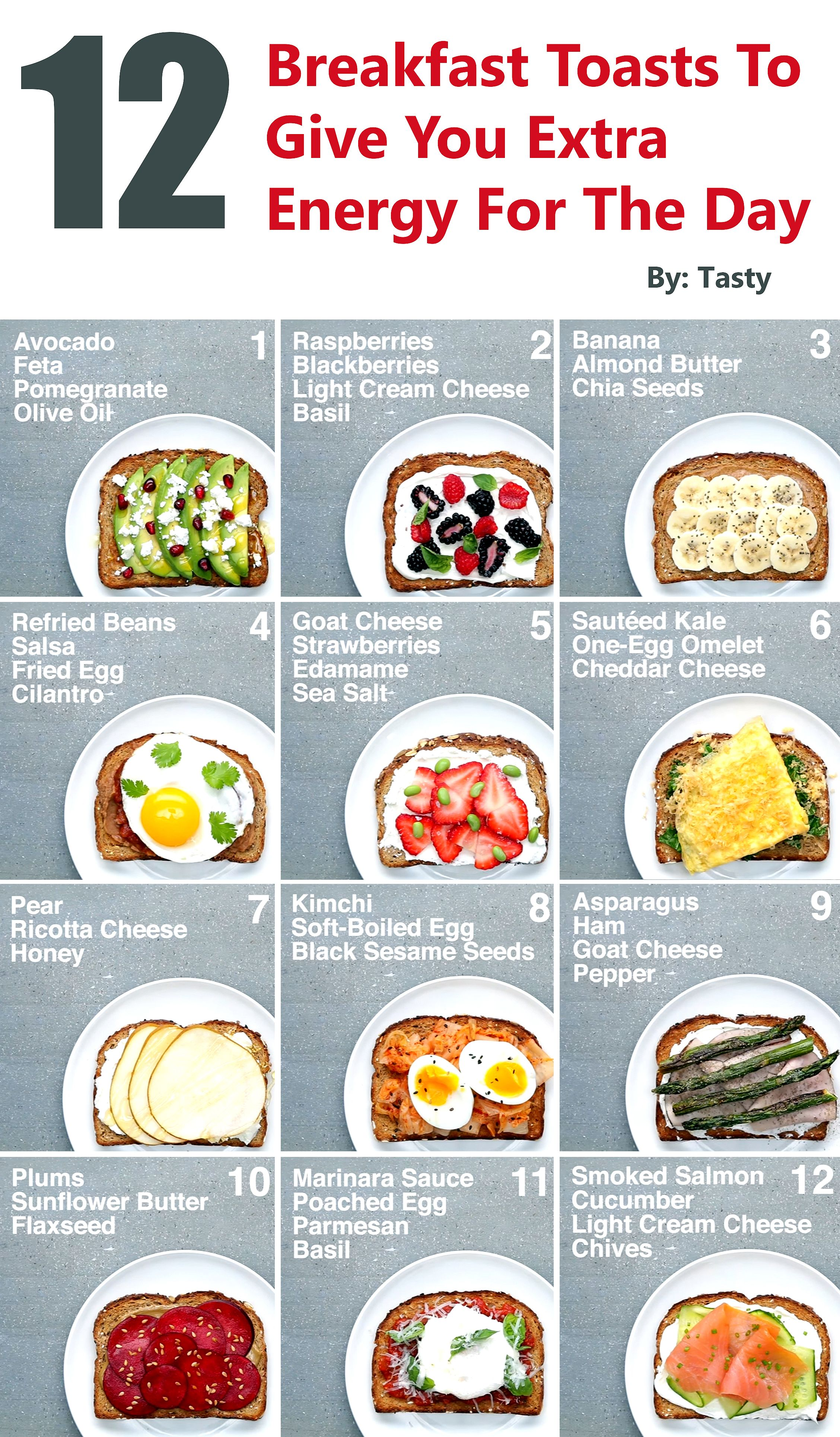 12 Breakfast Toasts To Give You Extra Energy For The Day Gwyl Io Healthy Breakfast Menu Healthy Breakfast Recipes Quick Healthy Breakfast