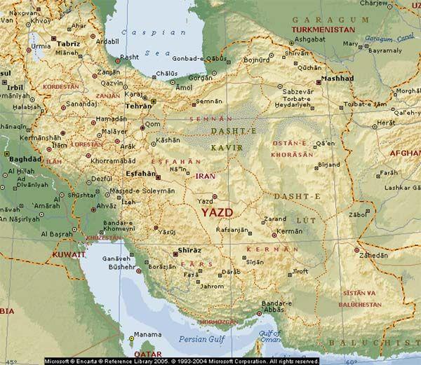Map of iran showing yazd base map courtesy microsoft encarta map of iran showing yazd base map courtesy microsoft encarta gumiabroncs Image collections