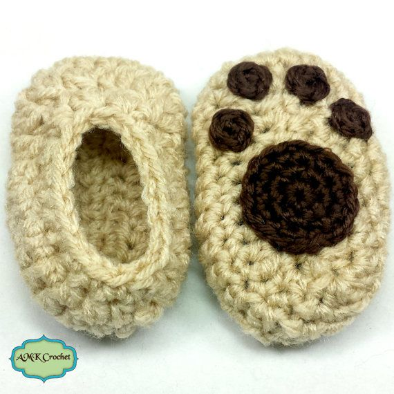 a96eaf7443efc Pattern - Crochet Newborn Puppy Hat and Matching Paw Print Booties ...