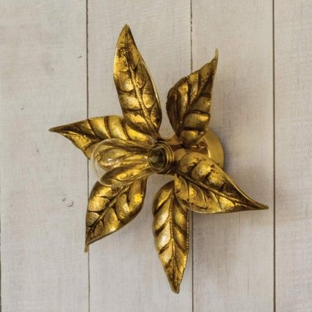 Flower Wall Sconce Burnish Gold Decorative String Lights Lighting Mirrors