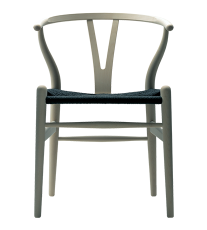 Wishbone Chair Oak with Black Cord Seat Dining Chairs