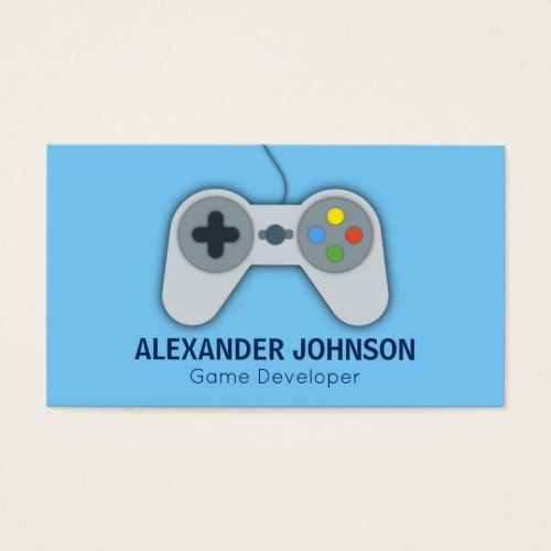 Modern Video Game Developers Designers Animators Business Card Zazzle Com In 2021 Video Game Development Square Business Cards Video Game Design