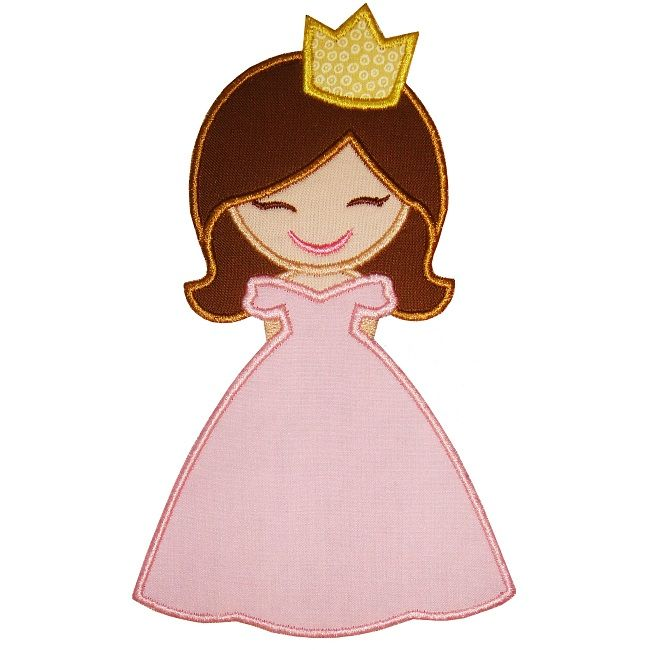 Princess Applique - could be super fun b/c the dress could be whatever fabric struck your fancy.