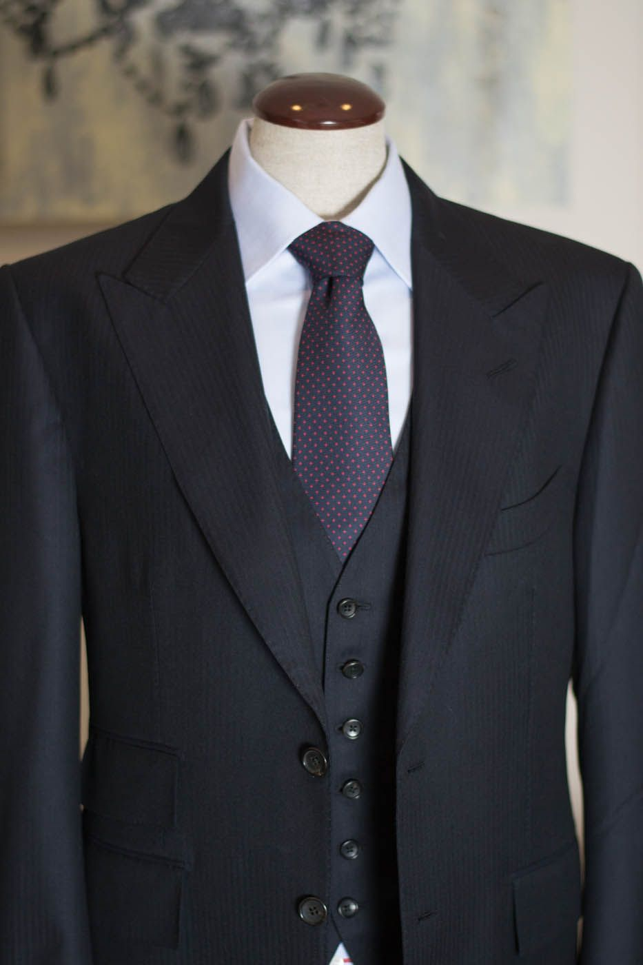 Tom Ford Navy Three-Piece Suit