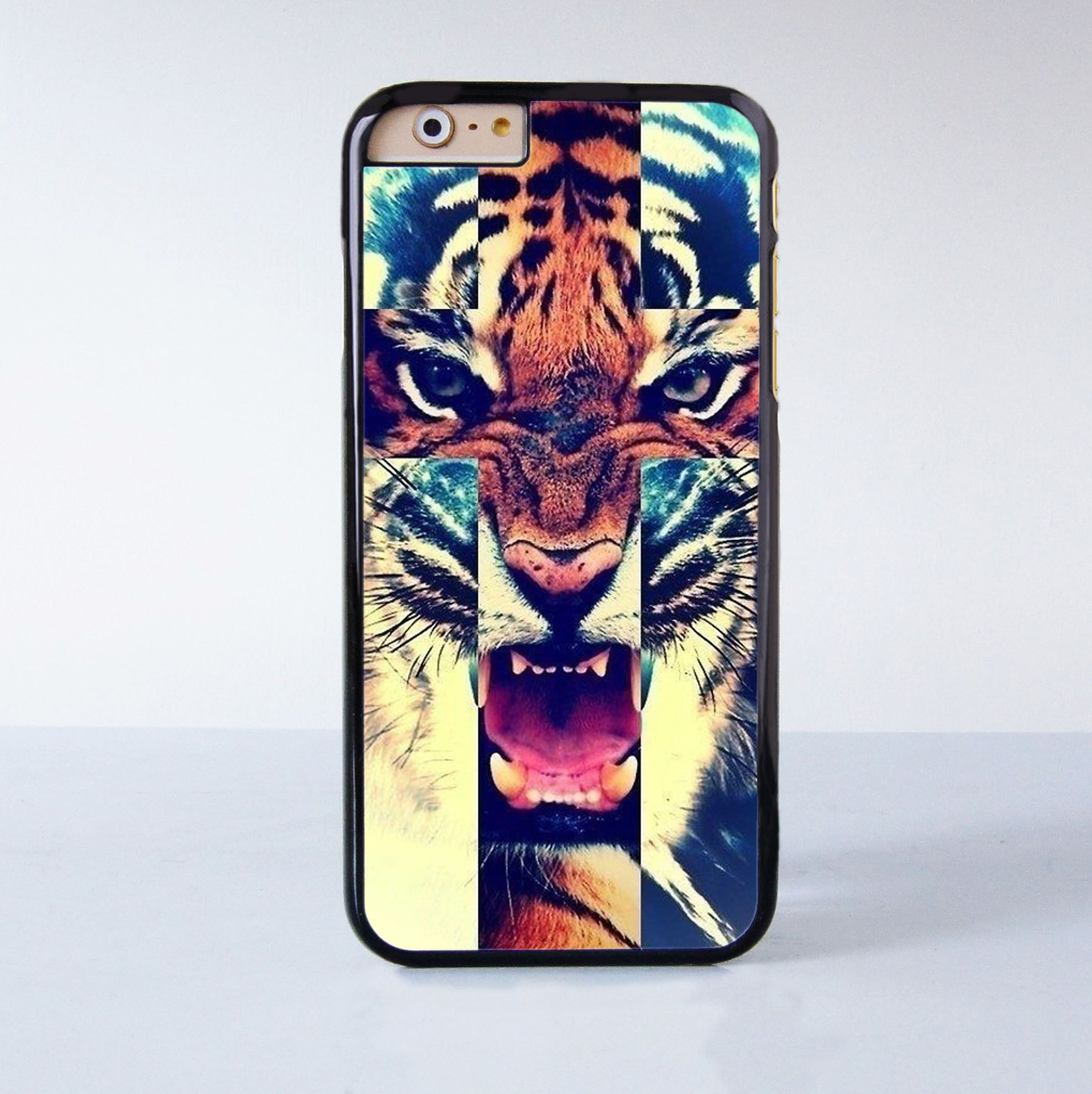 Tiger Plastic Phone Case For iPhone 6 More Style For iPhone 6/5/5s/5c/4/4s