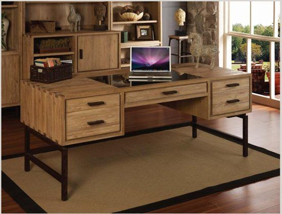 The Blair 70 Inch 1 2 Ped Desk Is Crafted Of Elm Solids With Hand Rubbed Natural Elm Finish The True View Pullout To Best Home Office Desk Kane Furniture Desk