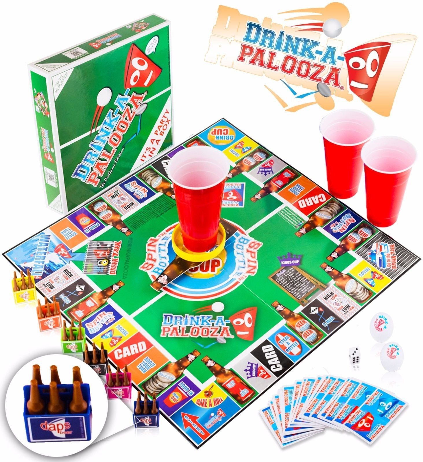 DRINKAPALOOZA Party Drinking Board Game Fun Party Games