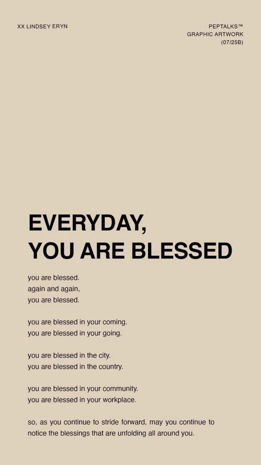 You are blessed In Your Business. You are blessed in your life. Invest In YOU!