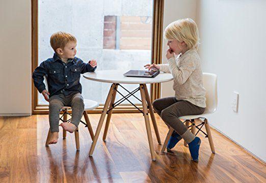 Amazing Amazon Com Urbanmod Kids Eames Style Modern White Table Set Bralicious Painted Fabric Chair Ideas Braliciousco