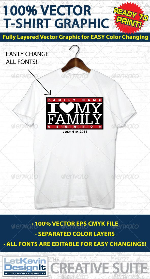 Family Reunion Vector T-shirt Graphic | Reunion T-shirts | Pinterest ...