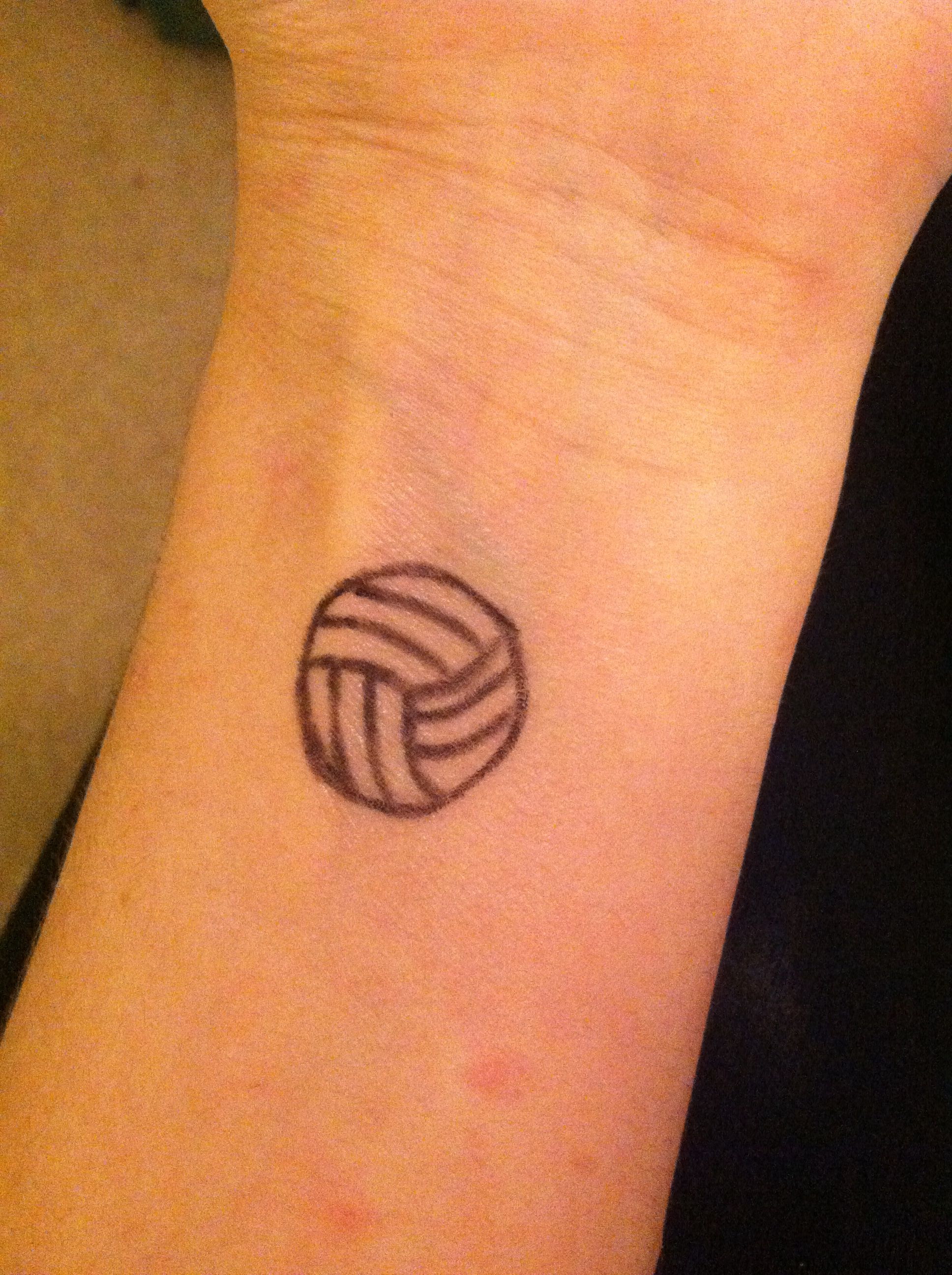 Volleyball Another Temporary Tattoo I Did Tattoos I Tattoo Cool Tattoos