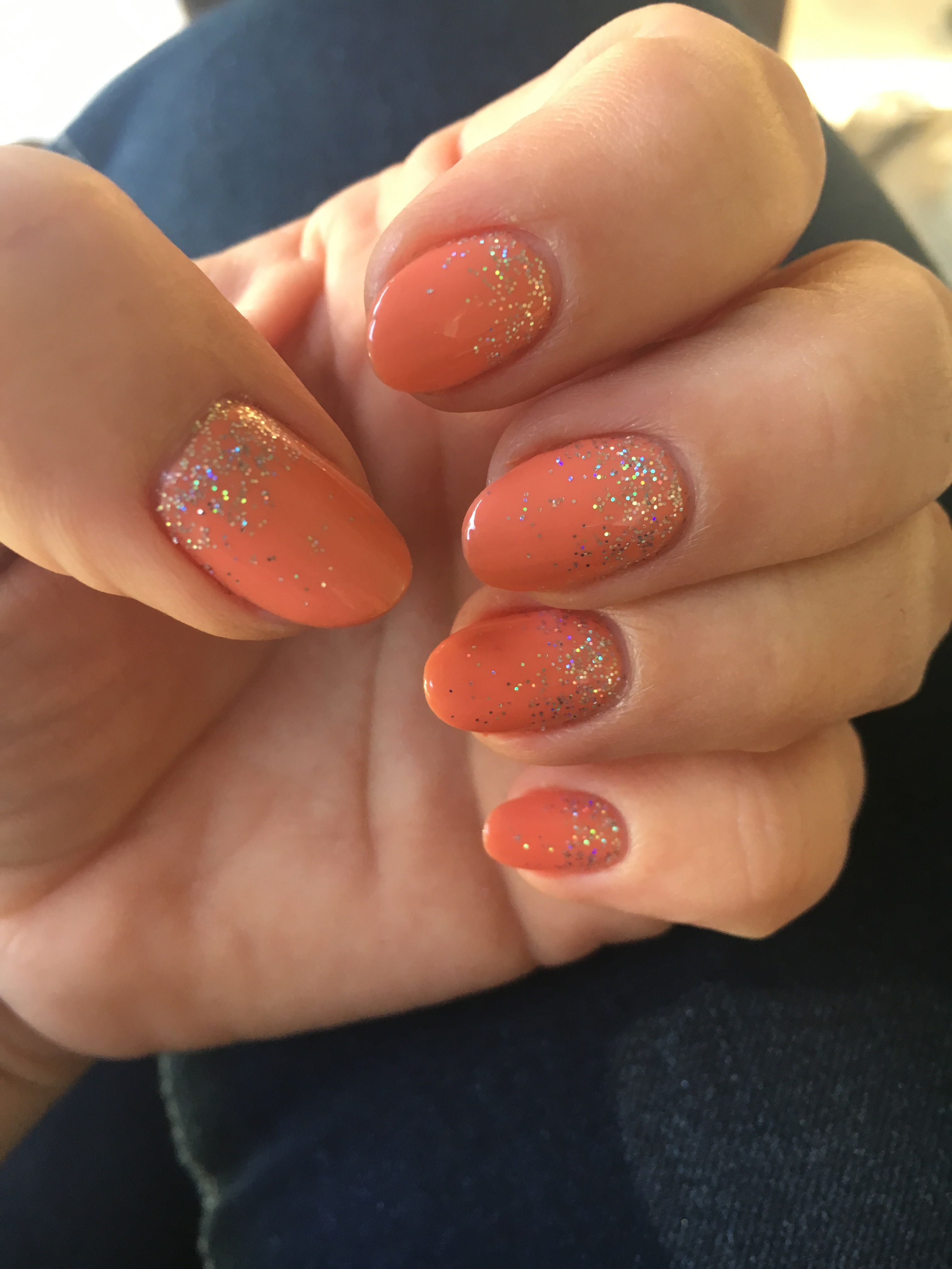 Pin by Aga Siłaczuk on Picture   Coral ombre nails, Nail