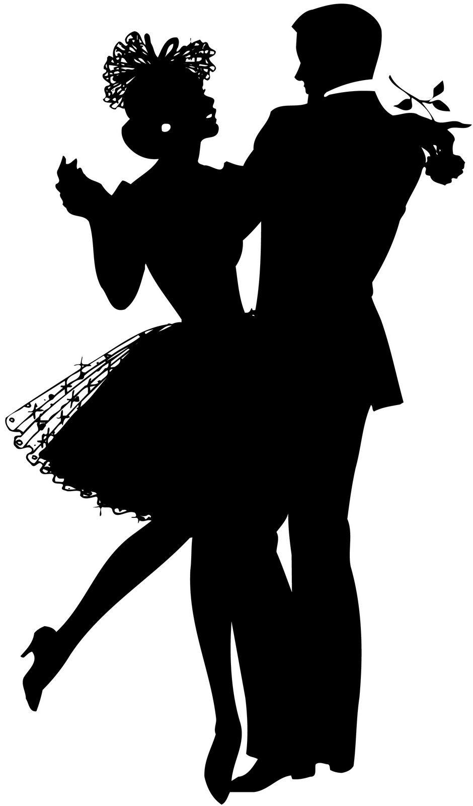 White apron clipart - Silhouette Dancing Couple