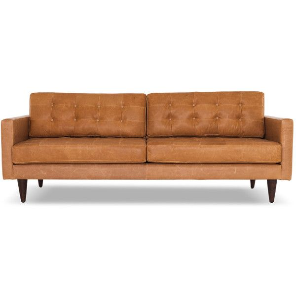 mid century modern leather couch. Joybird Eliot Mid Century Modern Black Leather Sofa ($2,249) ❤ Liked On Polyvore Featuring Couch