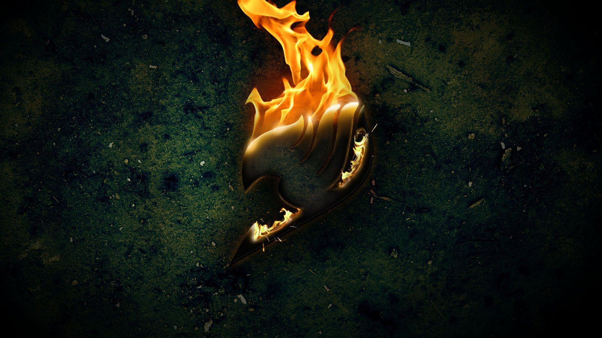 Fairy Tail Logo on Fire Wallpaper Fairy Tail Pinterest