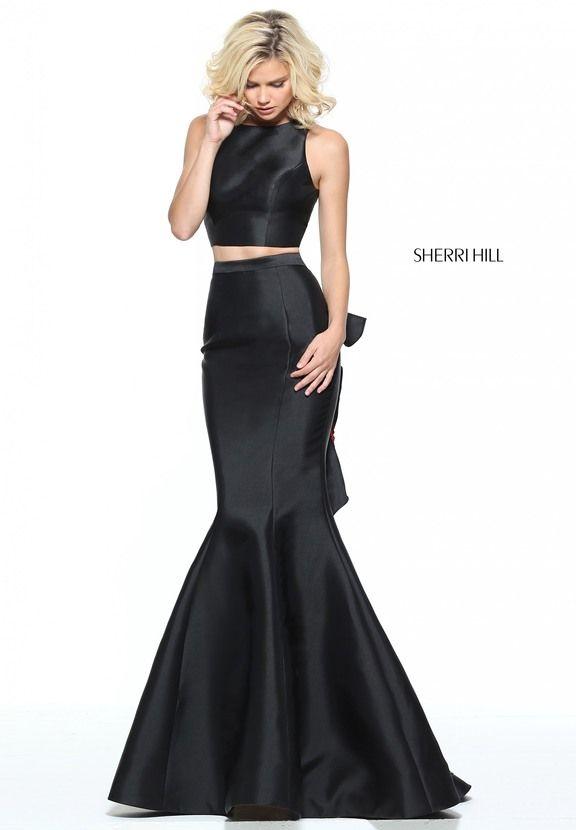 Sherri Hill Two Piece Black Dress 51027
