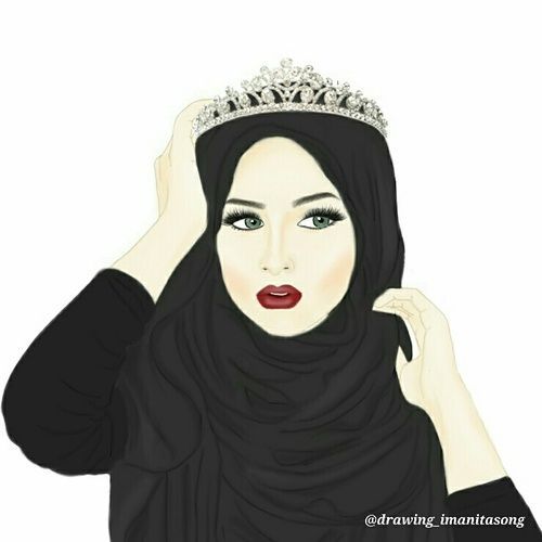 hijab and Queen image
