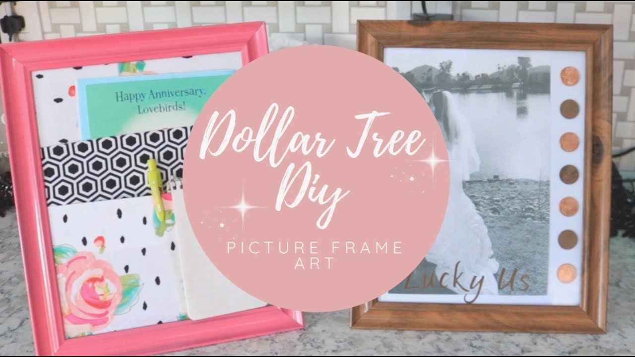 2 quick and easy diys using dollar tree picture frames